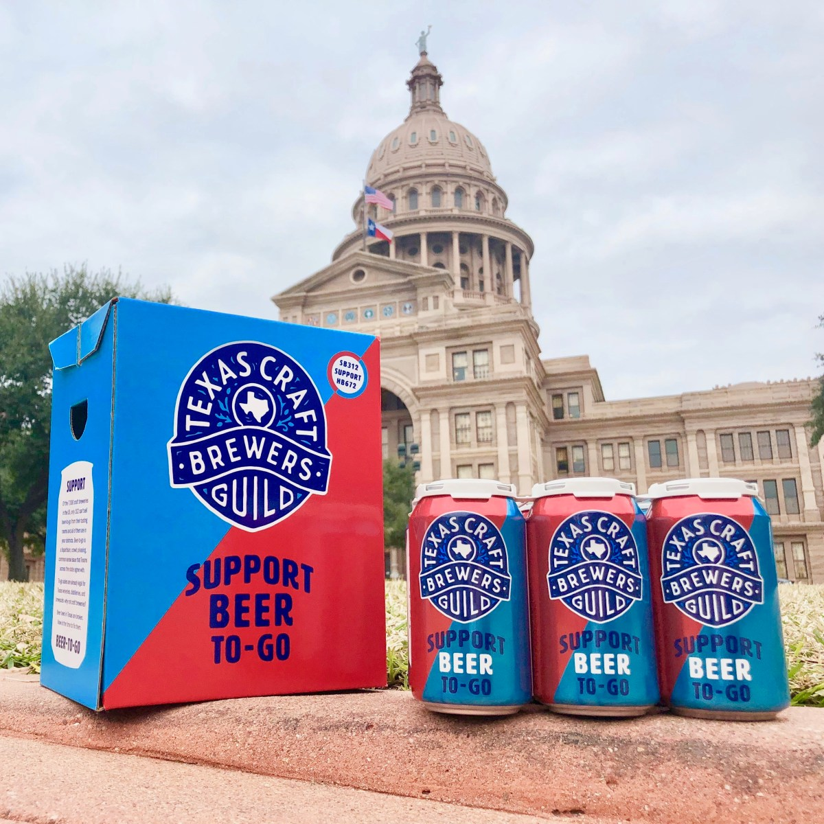 Beer-To-Go in front of the Capitol