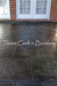 Custom Concrete Staining Installation After Image