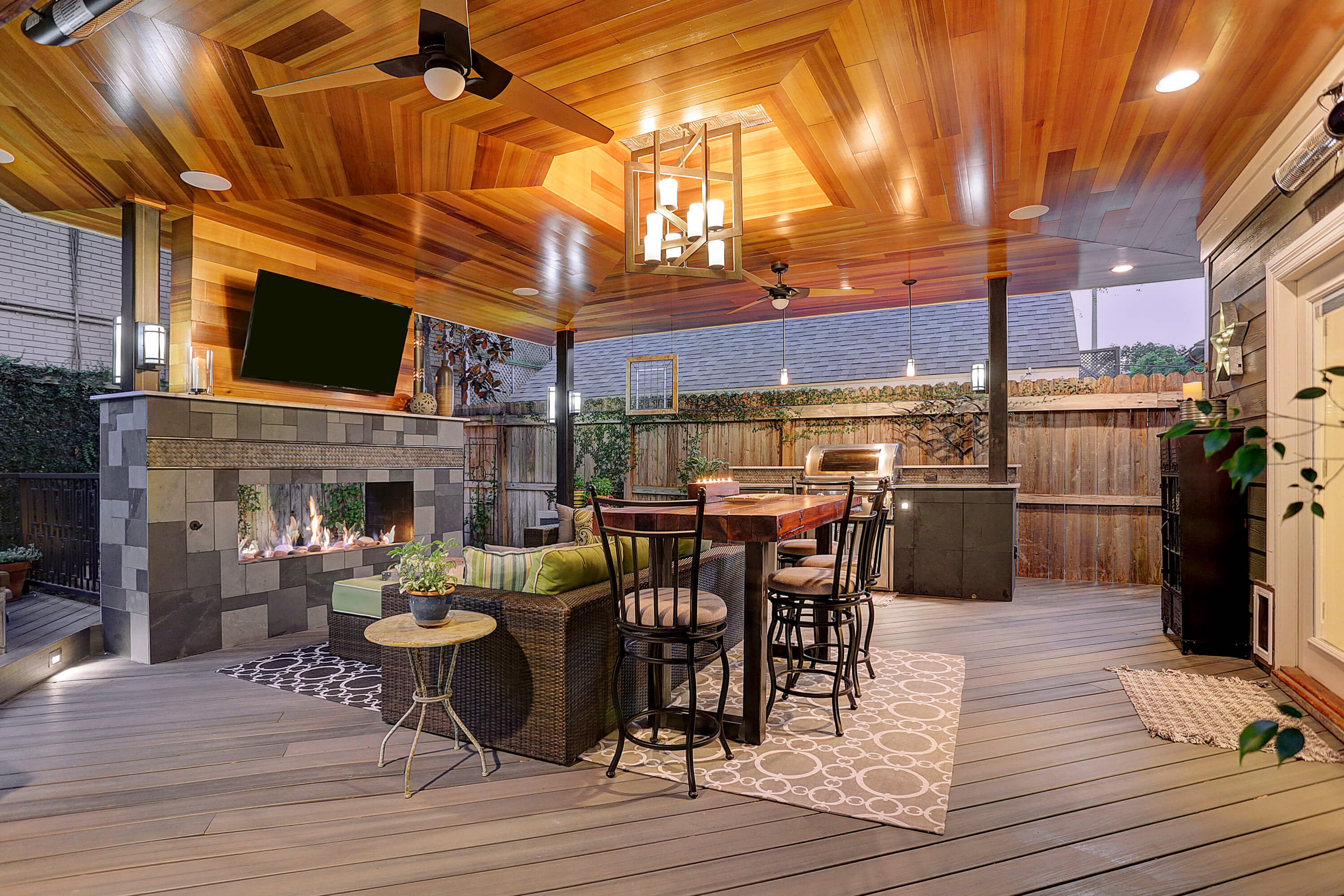Contemporary Outdoor Living Room In Montrose Texas