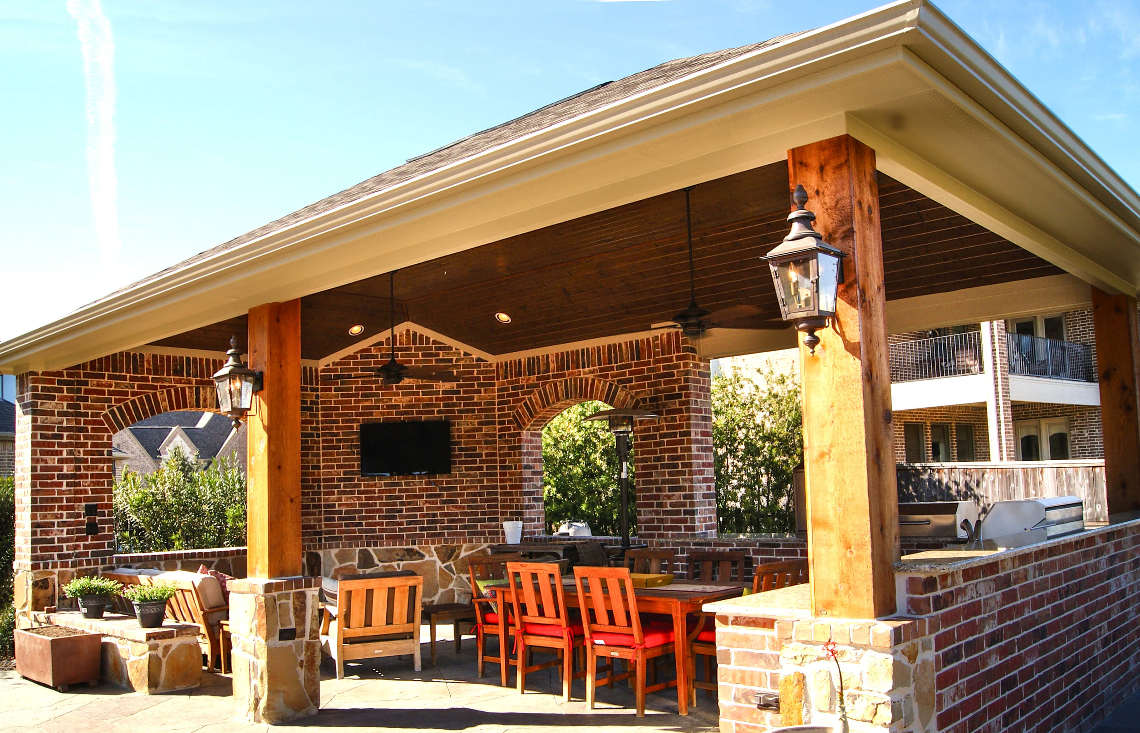 Outdoor Kitchen Amp Freestanding Patio Cover In The