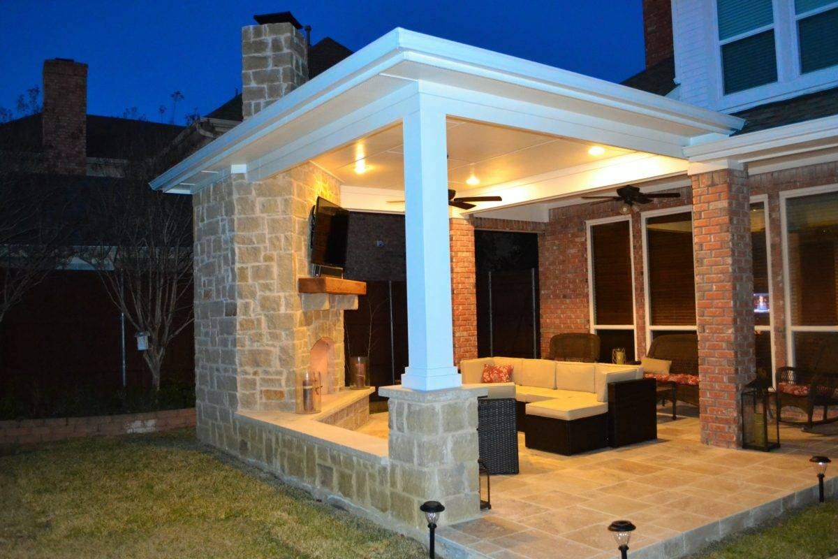 title   Outdoor Corner Fireplace