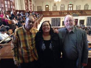 Exonerees Ron Keine, Sabrina Butler and Mark Clements.