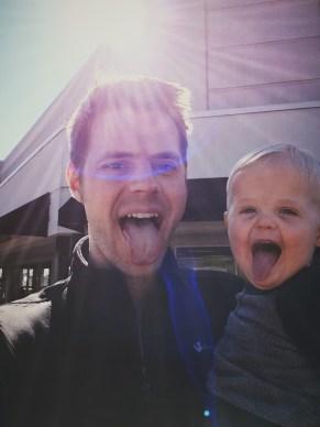 ezra tongue with dad