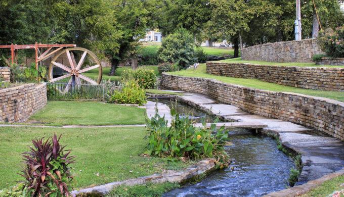 Mill Pond Park in San Saba, Texas