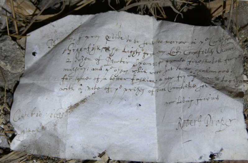 Nearly 400 Year Old Grocery List Found At English Estate