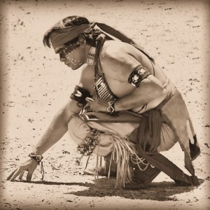 Photo of a Pow-Wow Dancer in Bandera, Texas