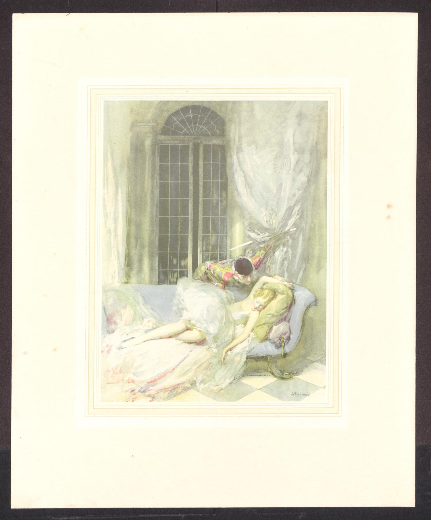 Good Night Columbine Print By Walter Ernest Webster
