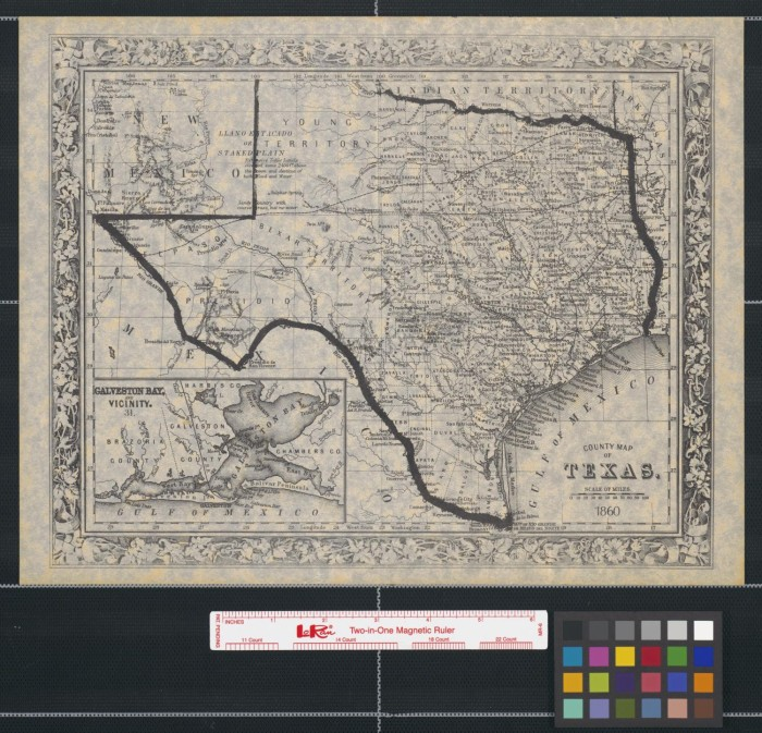 County map of Texas  1860    The Portal to Texas History County map of Texas  1860