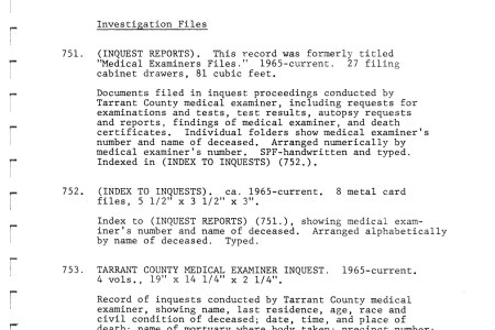 Free Resume 2018 » tarrant county medical examiner cause of death ...