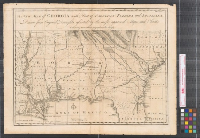 A new map of Georgia  with part of Carolina  Florida and Louisiana     A new map of Georgia  with part of Carolina  Florida and Louisiana