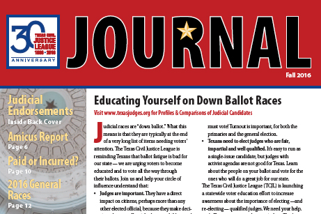 The Fall 2016 TCJL Journal is Out!