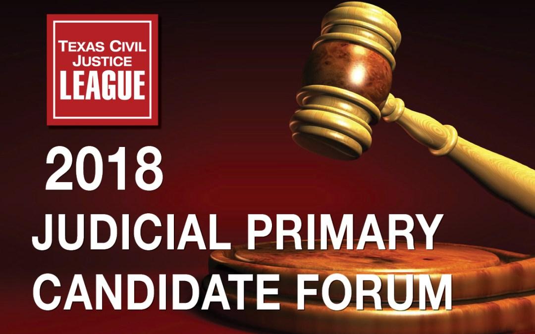 Register Now: TCJL Judicial Primary Candidate Forum 1-30-18