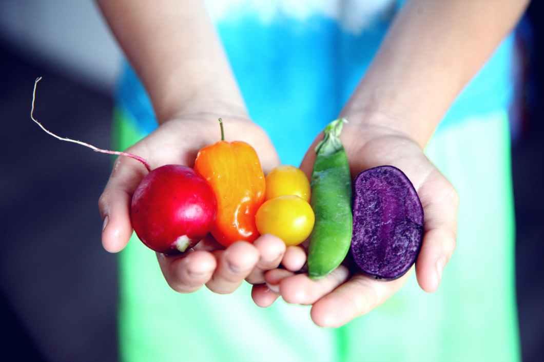 tilt shift lens photography of five assorted vegetables