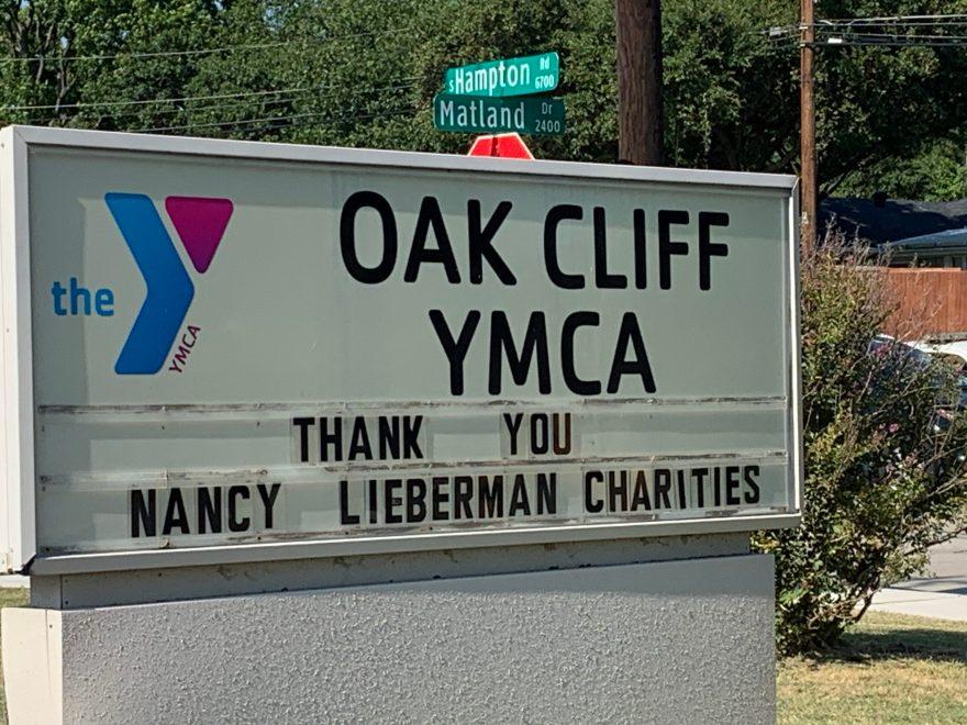 YMCA Sign Nancy Lieberman