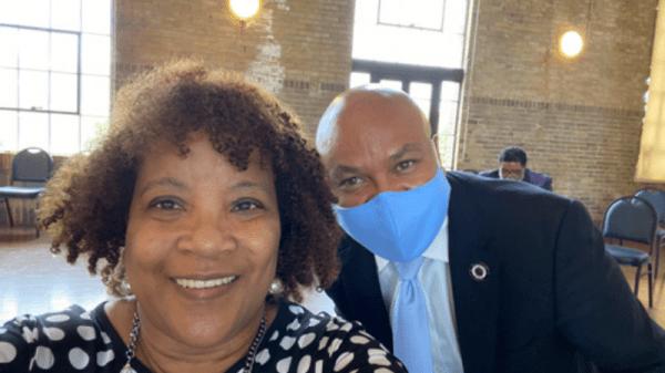 Cheryl with State Rep. Carl Sherman, Sr. in Houston