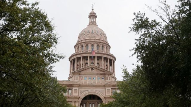 An exterior of the Texas State Capitol in Austin