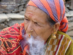 Smoking Woman of Far West Nepal
