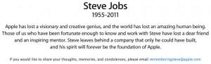 Steve Jobs dies at 56