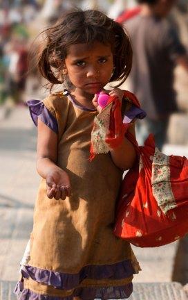 Little Nepali Girl, Swayambhunath Stupa, Kathmandu, Nepal