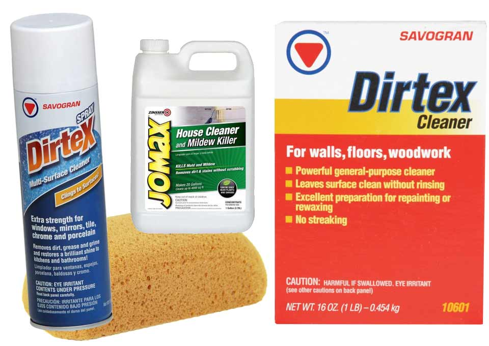 Paint cleaning supplies