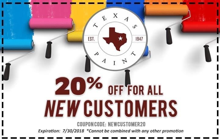Texas Paint In Store Coupon