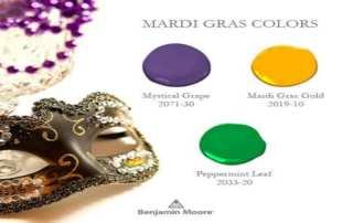 Mardi Gras Colors By Benjamin Moore