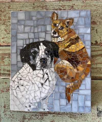DeniseMosaics-Pet Portraits Dog Display Gallery 20