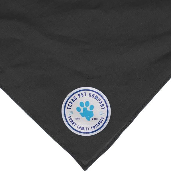 Texas Pet Company Official Brand Seal Logo Dog Bandana BLK