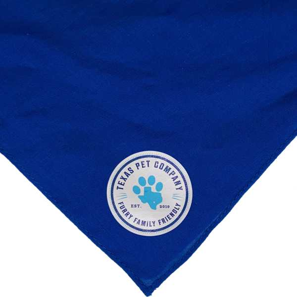 Texas Pet Company Official Brand Seal Logo Dog Bandana ROY