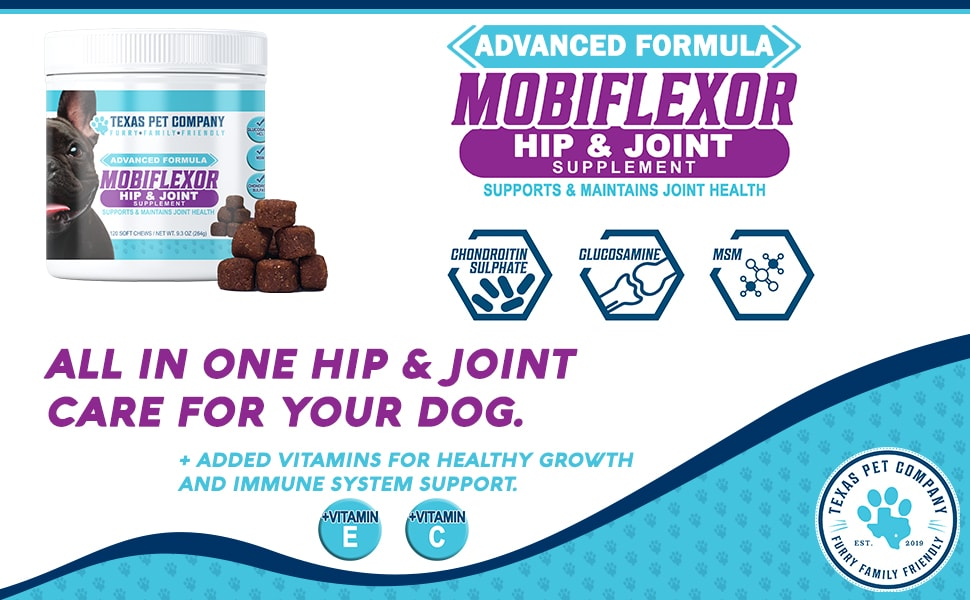 Mobiflexor Dog Hip and Joint Support for Mobility Dog Treats