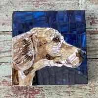Dog Mosaic 8x8 Custom Hand Made