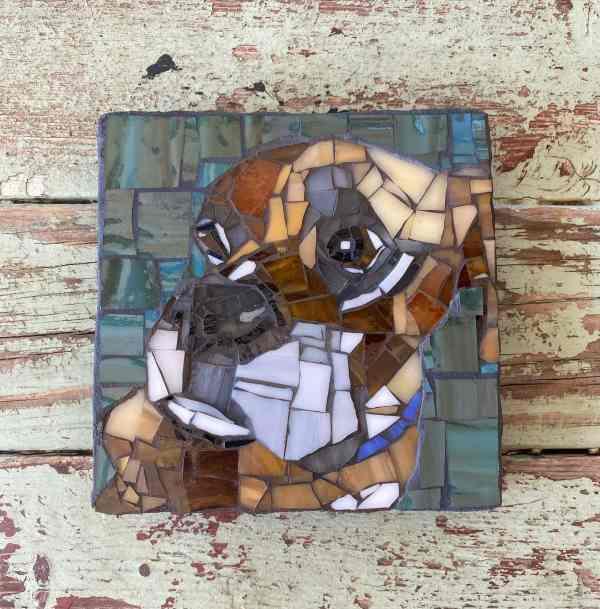 DeniseMosaics-Pet Portraits Dog Display Gallery 8x8 1