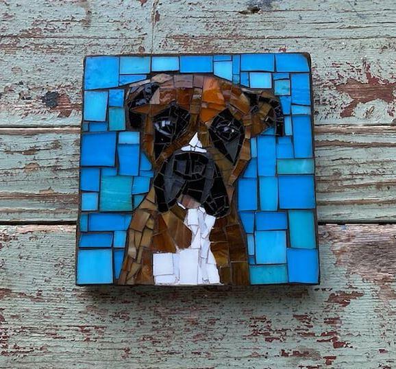 DeniseMosaics-Pet Portraits Dog Display Gallery 8x8 4