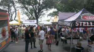 Across the street from our booth at Houston Beer Festival, June 8, 2013. Awesome time with you guys!