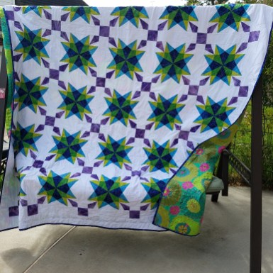 Purple Star quilt