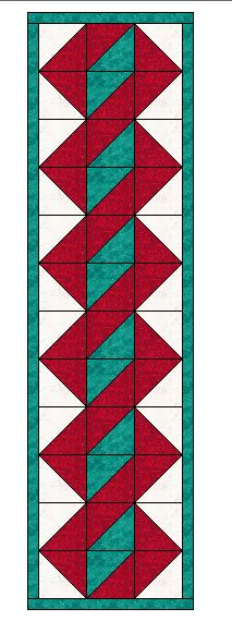Twisted Pole Table Runner Pattern Texas Quilting