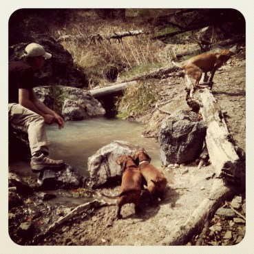 Our initial first hike in Jemez Springs in 2010