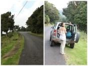 Steep road to Volcano Poas.