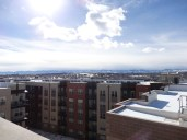 View of the west from our apartment rooftop.