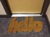 """DIY """"hello"""" doormat"""