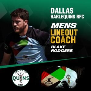 Men's Lineout Coach – Blake Rodgers