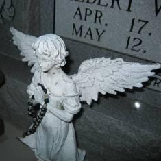 Statue on Grave Site Moulton Texas Near Catholic Church