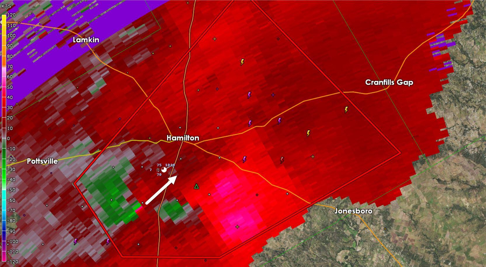 Tornado Warning For Hamilton County Until 430 PM Texas