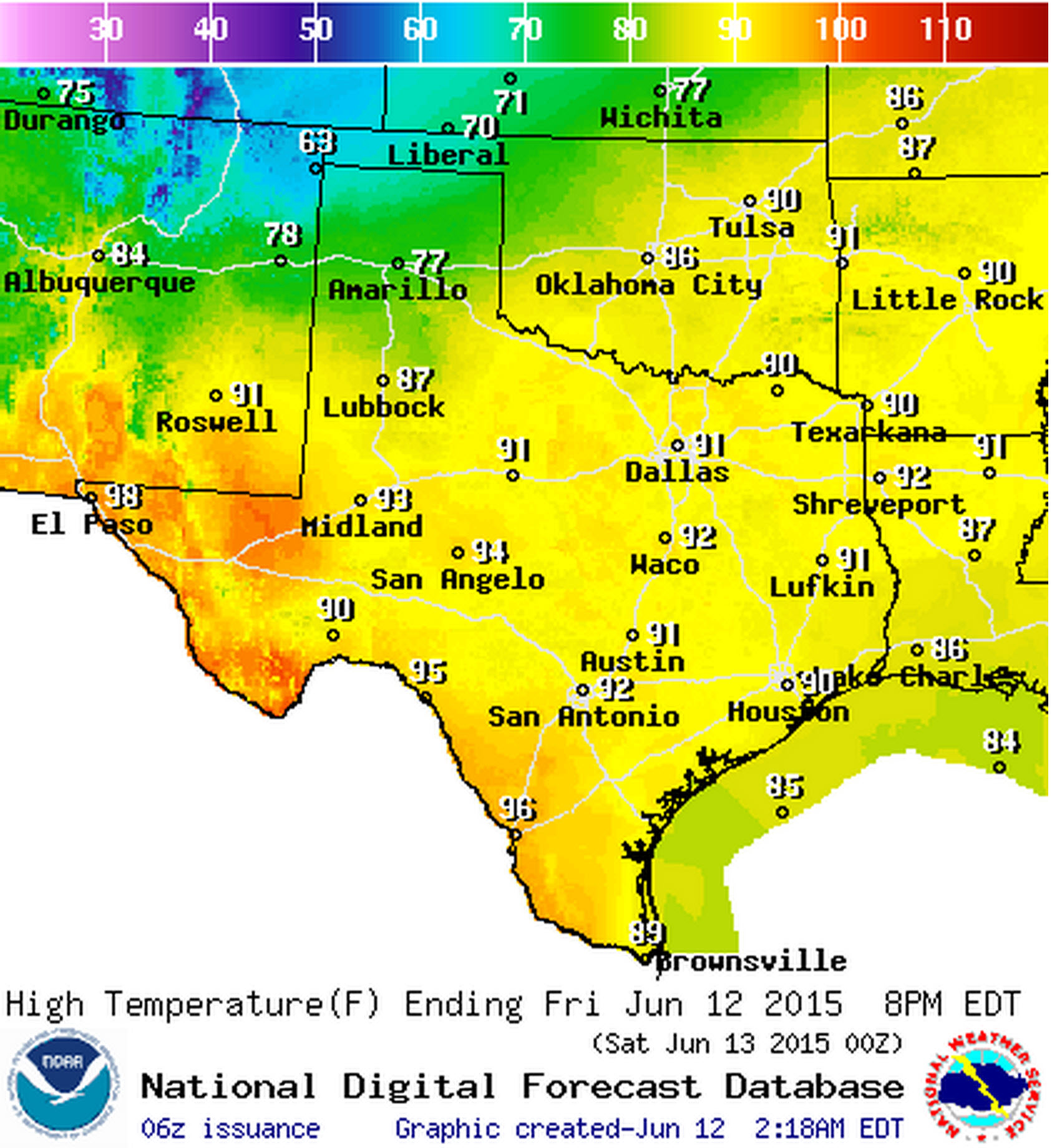 high temperature forecast for june . june   texas weather roundup  forecast • texas storm chasers