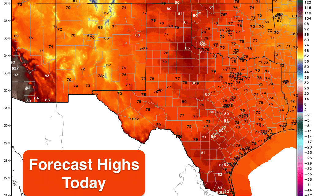 Warm Fall Temps Today & Tomorrow Before Thursday's Canadian Cold Front Arrives