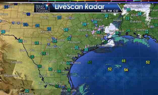 Light Sleet/Snow Reported in Southeast Texas; Freezing for All of TX Tonight