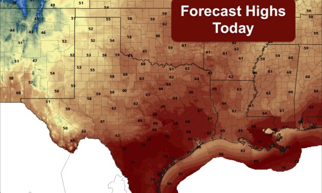 Cool Front Arrives Today with Wildfire Threats Across Western North TX – Much Stronger Front Arrives Thursday