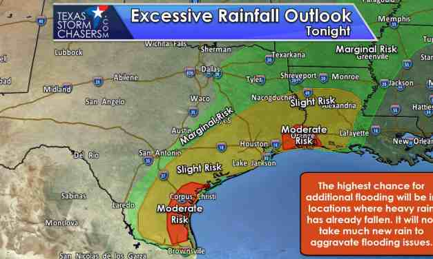 Another Round of Excessive Rain and Flooding Possible on the Middle Coast & S TX Tonight