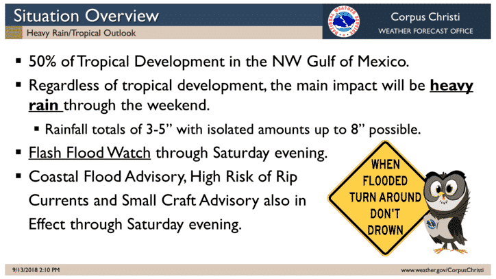 Tropical Low to bring heavy rain & flood threat to South Texas Friday-Saturday