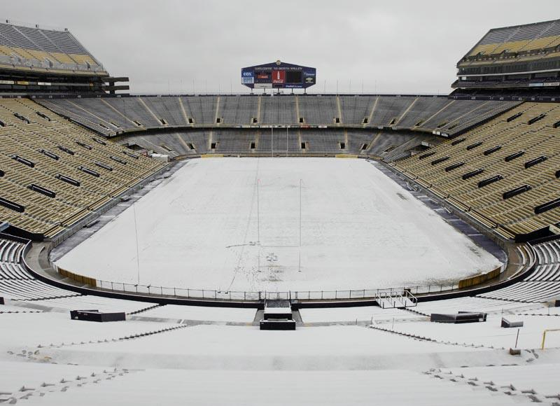 LSU's Tiger Stadium Covered in Snow